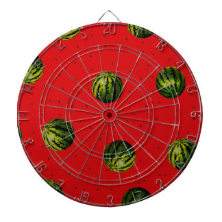 watermelons and seeds red products dartboard with darts