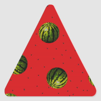 watermelons and seeds red products triangle sticker