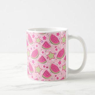 Watermelons and Stars Pattern Coffee Mug
