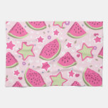 Watermelons and Stars Pattern Hand Towel