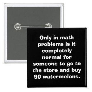 Watermelons Math Button