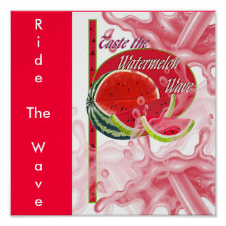 watermelonwave, RideTheWave Print