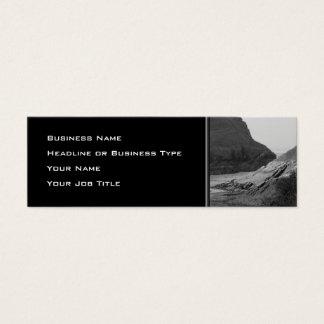 Watermouth, Devon, UK. Black and White. Mini Business Card