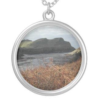 Watermouth, Devon, UK. Cliffs. Round Pendant Necklace