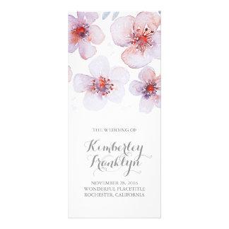 Waterolor Flower Botanical Pretty Wedding Programs