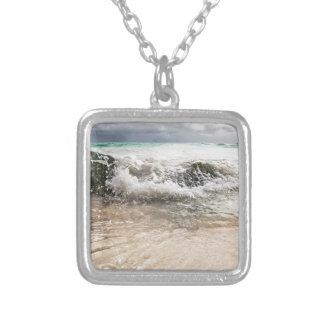 WaterOnRocks Silver Plated Necklace