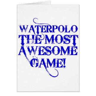 waterpolo el más impresionante tarjeta de felicitación