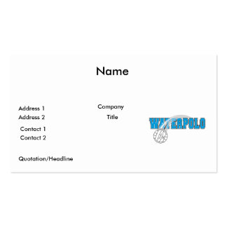 waterpolo logo Double-Sided standard business cards (Pack of 100)