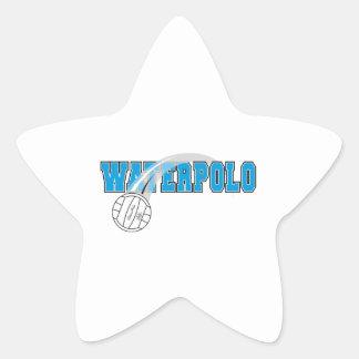 waterpolo logo star sticker