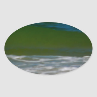 waters edge.JPG Oval Sticker