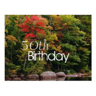 Waters Edge Seasonal Birthday Invitation Postcard