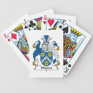 Waters Family Crest Poker Cards