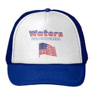 Waters for Congress Patriotic American Flag Design Trucker Hat