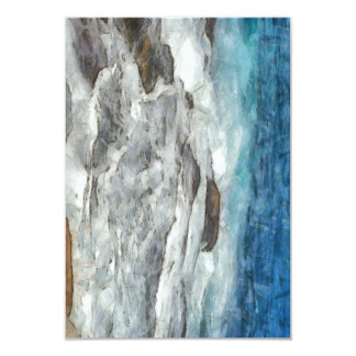 Waters furiously covering rocks card