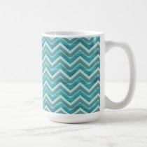 Waters Glitter Chevron Pattern Coffee Mug