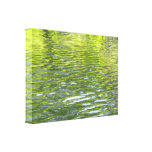 Waters of Oak Creek Yellow and Green Nature Photo Canvas Print