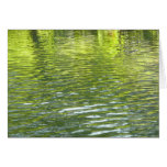 Waters of Oak Creek Yellow and Green Nature Photo Card