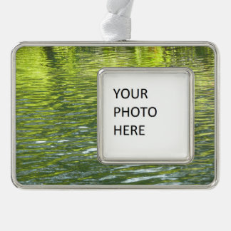 Waters of Oak Creek Yellow and Green Nature Photo Christmas Ornament