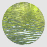 Waters of Oak Creek Yellow and Green Nature Photo Classic Round Sticker