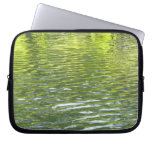 Waters of Oak Creek Yellow and Green Nature Photo Computer Sleeves