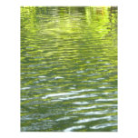Waters of Oak Creek Yellow and Green Nature Photo Letterhead