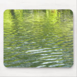 Waters of Oak Creek Yellow and Green Nature Photo Mouse Pad