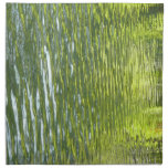 Waters of Oak Creek Yellow and Green Nature Photo Napkin