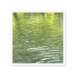 Waters of Oak Creek Yellow and Green Nature Photo Paper Napkin