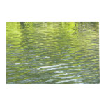 Waters of Oak Creek Yellow and Green Nature Photo Placemat