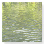 Waters of Oak Creek Yellow and Green Nature Photo Stone Coaster