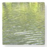 Waters of Oak Creek Yellow and Green Nature Photo Stone Coaster