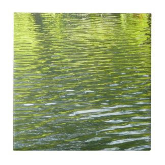 Waters of Oak Creek Yellow and Green Nature Photo Tile