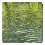 Waters of Oak Creek Yellow and Green Nature Photo Trivet