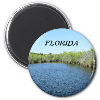 WATERS OF THE EVERGLADES 2 INCH ROUND MAGNET