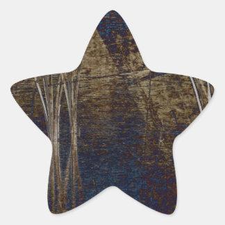 Waterscape azul pegatina en forma de estrella