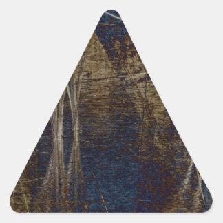 Waterscape azul pegatina triangular