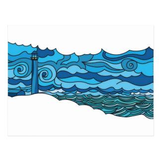 Waterscape con el faro postal