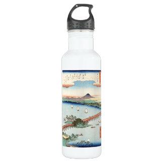 Waterscape japonés fresco del paisaje del ukiyo-e