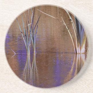 Waterscape púrpura posavasos cerveza