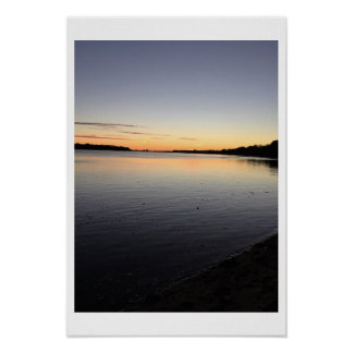 Waterscape Sunset Photo Poster