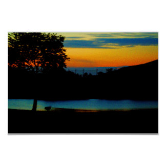 Waterscape Sunset Poster