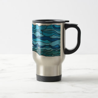 Waterscape with lighthouse coffee mugs