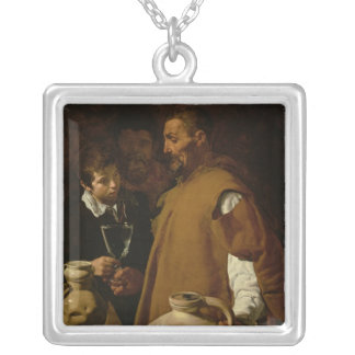Waterseller of Seville, c.1620 Square Pendant Necklace