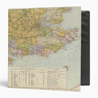 Watershed map England, Wales 6 3 Ring Binders
