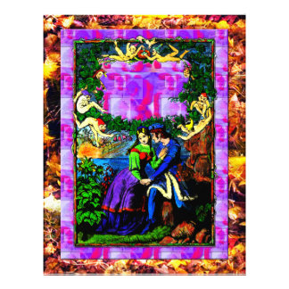 Waterside fantasy mythical garden Letterhead