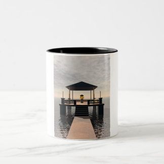 Waterside Gazebo Two-Tone Coffee Mug