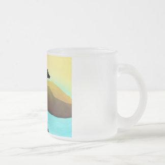 Waterside Greyhound Dog Landscape Mug