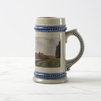 Waterside painting beer stein