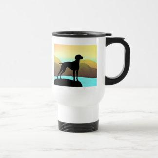 Waterside Vizsla t-shirts, apparel & gift Travel Mug