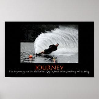 Waterski - es el viaje, no el destino póster